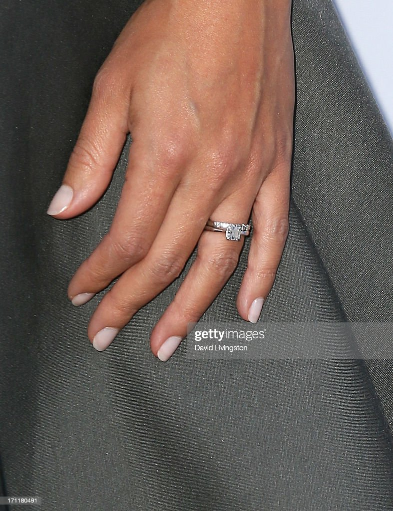 Actress Morena Baccarin (ring detail) attends Opening Night at The Hollywood Bowl 2013 at The Hollywood Bowl on June 22, 2013 in Los Angeles, California.