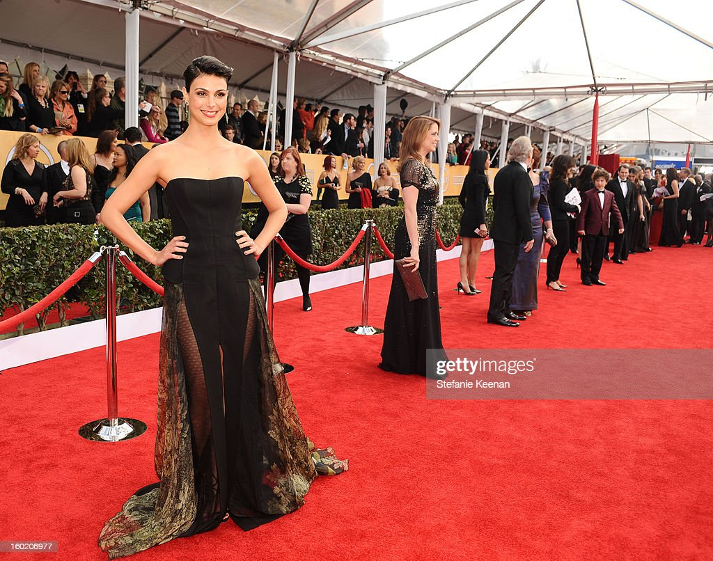 Actress Morena Baccarin attends the 19th Annual Screen Actors Guild Awards at The Shrine Auditorium on January 27, 2013 in Los Angeles, California. (Photo by Stefanie Keenan/WireImage) 23116_025_0572.jpg