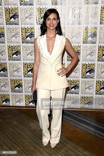 Actress Morena Baccarin attends the 20th Century Fox press room during ComicCon International 2015 at the Hilton Bayfront on July 11 2015 in San...