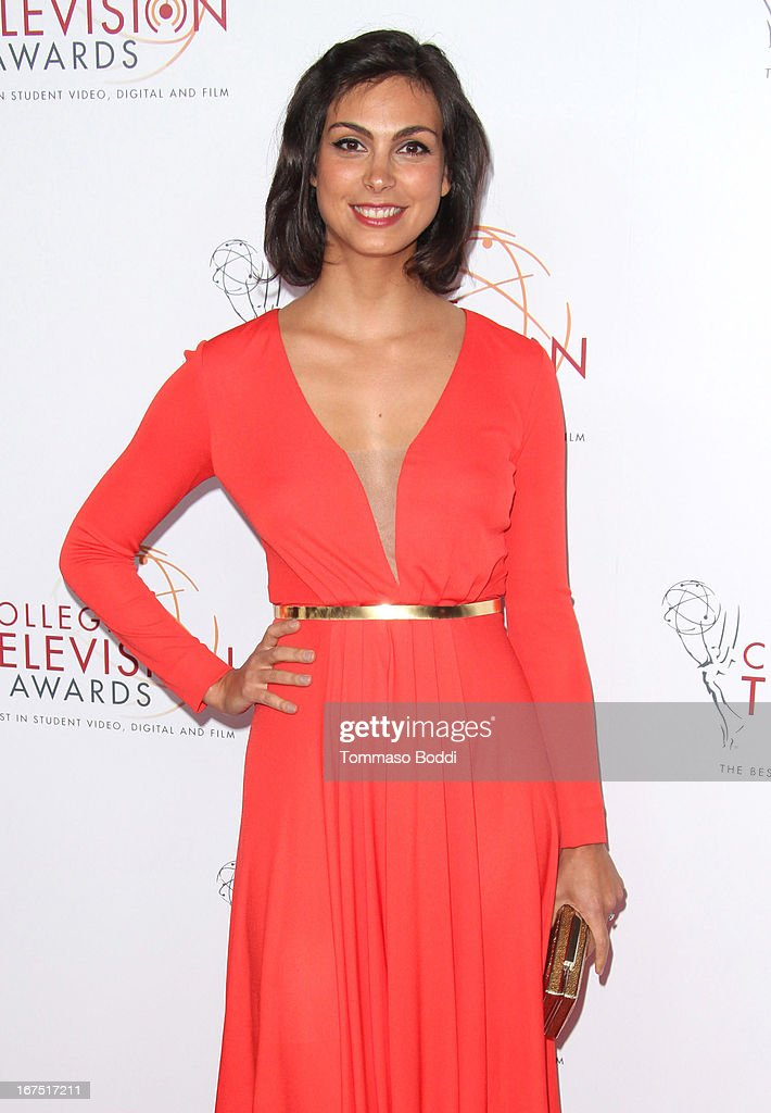Actress Morena Baccarin attends the 34th College Television Awards Gala held at the JW Marriott Los Angeles at L.A. LIVE on April 25, 2013 in Los Angeles, California.