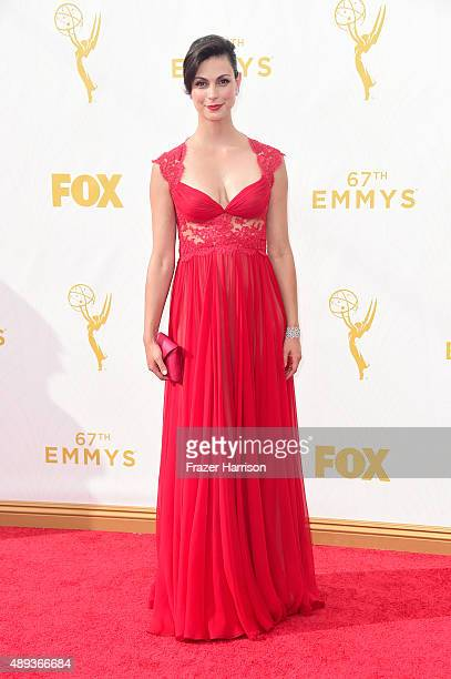 Actress Morena Baccarin attends the 67th Annual Primetime Emmy Awards at Microsoft Theater on September 20 2015 in Los Angeles California