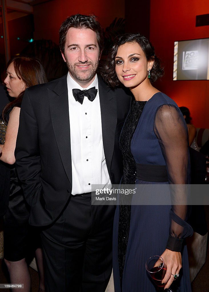 Actress <a gi-track='captionPersonalityLinkClicked' href=/galleries/search?phrase=Morena+Baccarin&family=editorial&specificpeople=812774 ng-click='$event.stopPropagation()'>Morena Baccarin</a> (R) attends the FOX After Party for the 70th Annual Golden Globe Awards held at The FOX Pavillion at The Beverly Hilton Hotel on January 13, 2013 in Beverly Hills, California.