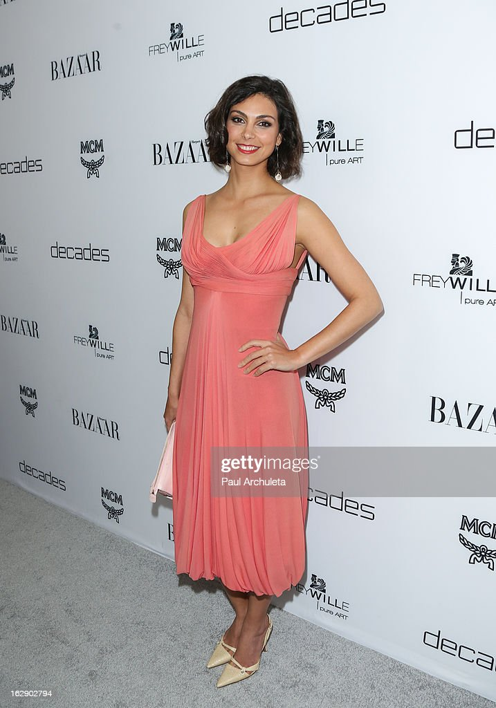 Actress Morena Baccarin attends the Harper's BAZAAR celebration for the new Bravo series 'Dukes of Melrose' at The Terrace at Sunset Tower on February 28, 2013 in West Hollywood, California.