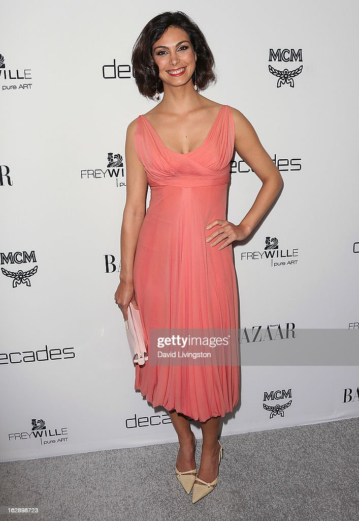 Actress Morena Baccarin attends the Harper's BAZAAR celebration of Cameron Silver and Christos Garkinos of Decades new Bravo series 'Dukes of Melrose' at The Terrace at Sunset Tower on February 28, 2013 in West Hollywood, California.