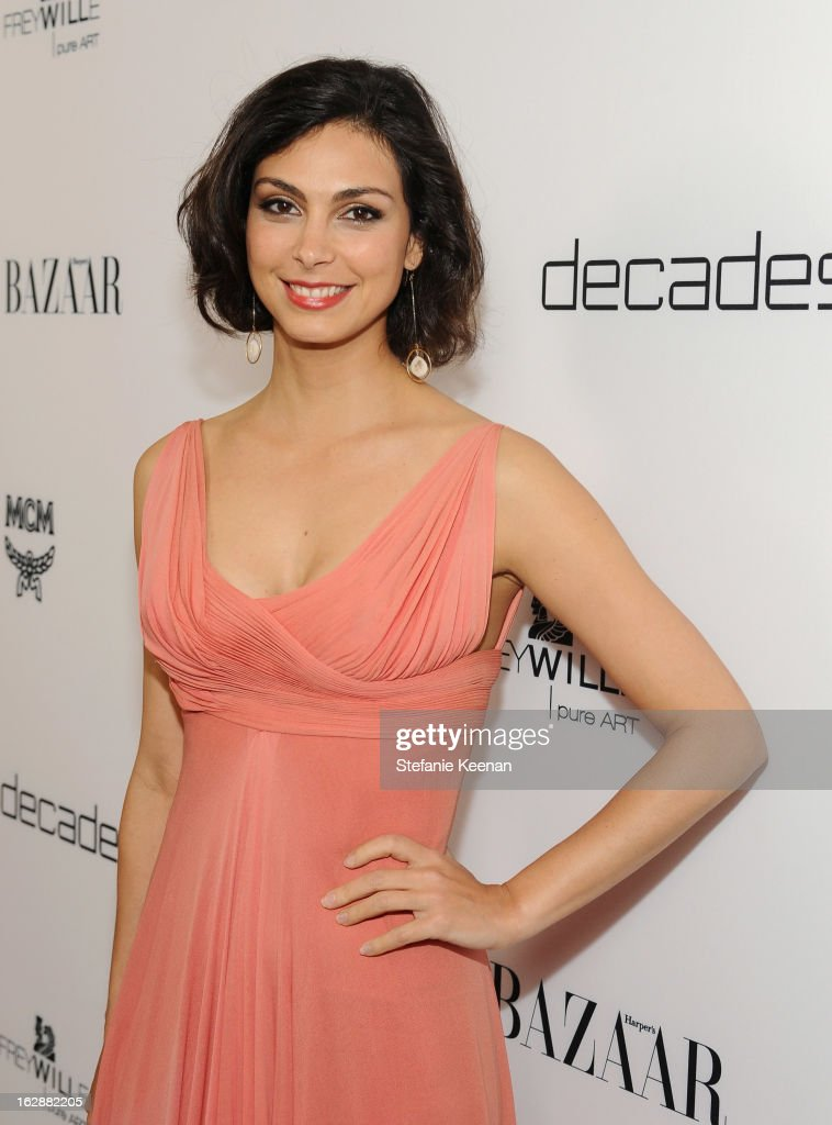 Actress <a gi-track='captionPersonalityLinkClicked' href=/galleries/search?phrase=Morena+Baccarin&family=editorial&specificpeople=812774 ng-click='$event.stopPropagation()'>Morena Baccarin</a> attends the Harper's BAZAAR celebration of the launch of Bravo TV's 'The Dukes of Melrose' starring Cameron Silver and Christos Garkinos at Sunset Tower on February 28, 2013 in West Hollywood, California.