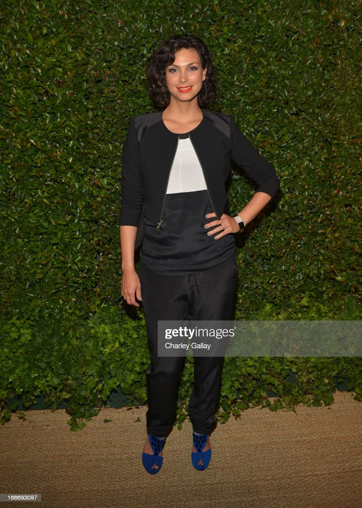 Actress <a gi-track='captionPersonalityLinkClicked' href=/galleries/search?phrase=Morena+Baccarin&family=editorial&specificpeople=812774 ng-click='$event.stopPropagation()'>Morena Baccarin</a> attends Vogue and MAC Cosmetics dinner hosted by Lisa Love and John Demsey in honor of Prabal Gurung at the Chateau Marmont on Monday, May 13, 2013 in Los Angeles, California.