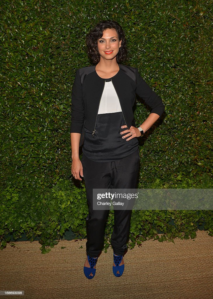 Actress Morena Baccarin attends Vogue and MAC Cosmetics dinner hosted by Lisa Love and John Demsey in honor of Prabal Gurung at the Chateau Marmont on Monday, May 13, 2013 in Los Angeles, California.