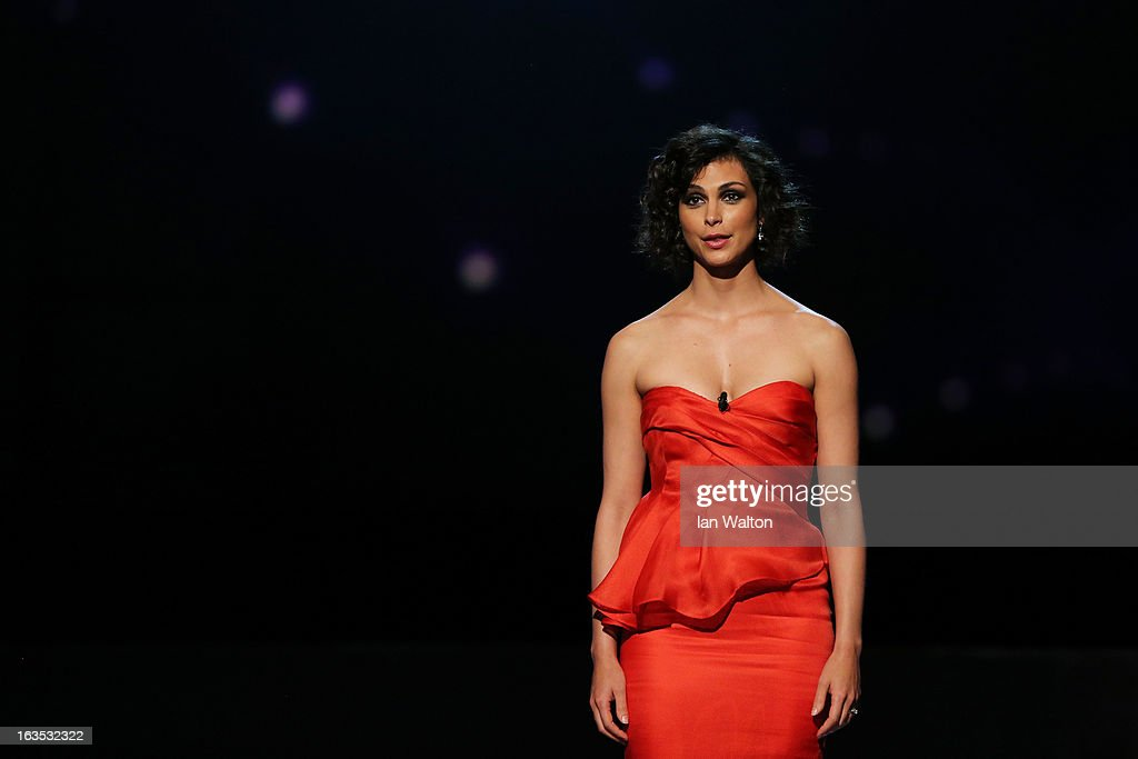 Actress Morena Baccarin during the awards show for the 2013 Laureus World Sports Awards at the Theatro Municipal Do Rio de Janeiro on March 11, 2013 in Rio de Janeiro, Brazil.