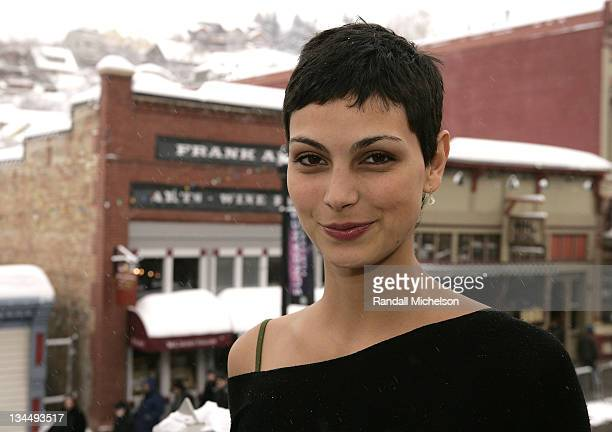 Actress Morena Baccarin of 'Death in Love' poses at the Sky 360 Delta Lounge during 2008 Sundance Film Festival on January 21 2008 in Park City Utah