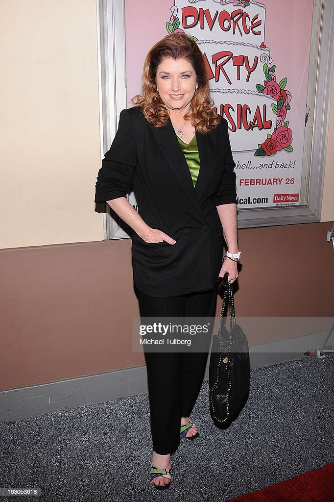Actress Morgan Brittany attends the opening night performance of 'Divorce Party - The Musical' at El Portal Theatre on March 3, 2013 in North Hollywood, California.