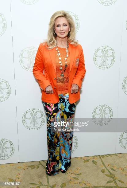 Actress Morgan Fairchild arrives at the Women's Guild CedarsSinai Spring Luncheon honoring Victoria Reggie Kennedy at The Beverly Hills Hotel on May...