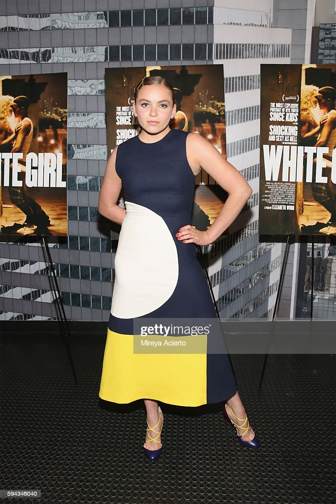 Actress Morgan Saylor attends the New York premiere for 'White Girl' at Angelika Film Center on August 22, 2016 in New York City.