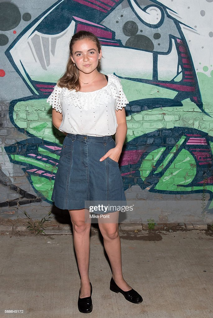 Actress Morgan Saylor attends the 'White Girl' New York screening at The Bushwick Generator on August 11, 2016 in the Brooklyn borough of New York City.