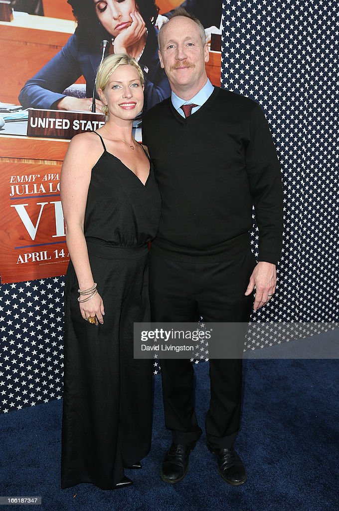 Actress Morgan Walsh (L) and husband actor Matt Walsh attend the premiere of HBO's 'VEEP' Season 2 at Paramount Studios on April 9, 2013 in Hollywood, California.