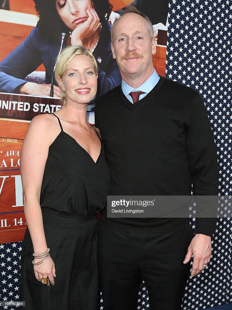 Actress Morgan Walsh (L) and husband actor Matt Walsh attend the premiere of HBO's 'VEEP' Season 2 at Paramount Studios on April 9, 2013 in Hollywood, California.