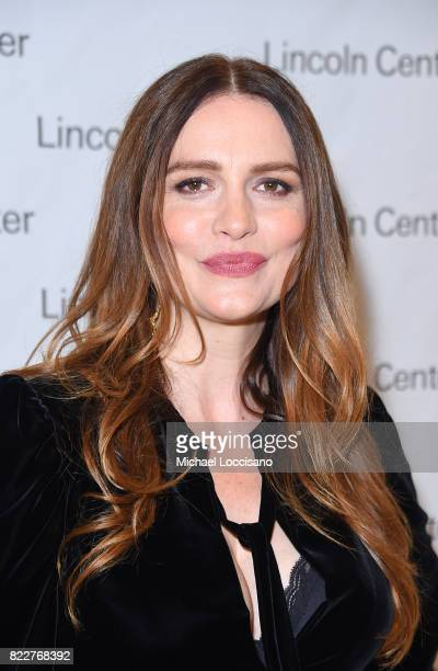 Actress 'Mozart in the Jungle' Saffron Burrows attends Lincoln Center's Mostly Mozart Opening Night Gala at David Geffen Hall on July 25 2017 in New...