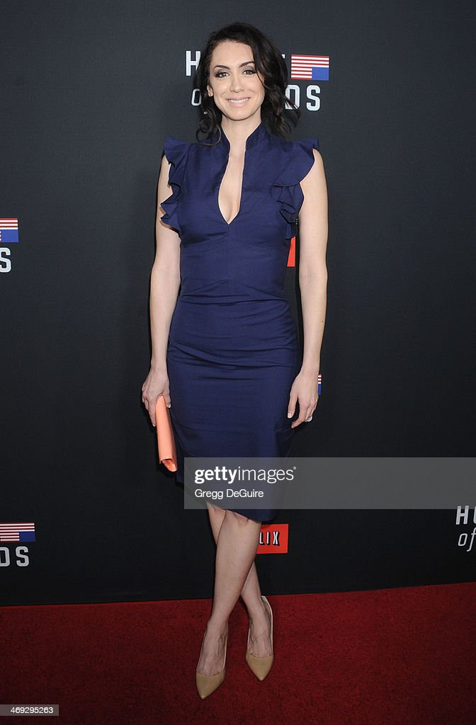 Actress Mozhan Marno arrives at the 'House Of Cards' Season 2 special screening at Directors Guild Of America on February 13, 2014 in Los Angeles, California.