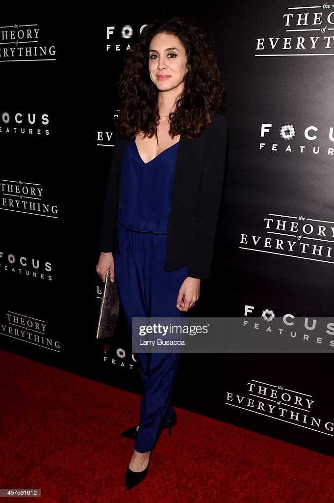 Actress Mozhan Marno attends 'The Theory Of Everything' New York Premiere at Museum of Modern Art on October 20, 2014 in New York City.