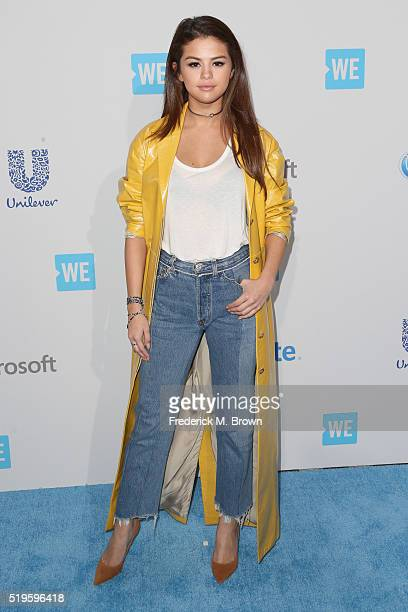 Actress multiplatinum recording artist and UNICEF Goodwill Ambassador Selena Gomez walks the WE Carpet at WE Day California 2016 at The Forum on...