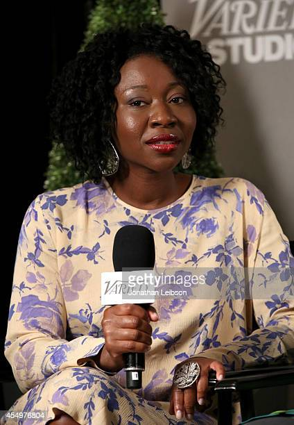 Actress Muna Otaru attends the Variety Studio presented by Moroccanoil at Holt Renfrew during the 2014 Toronto International Film Festival on...