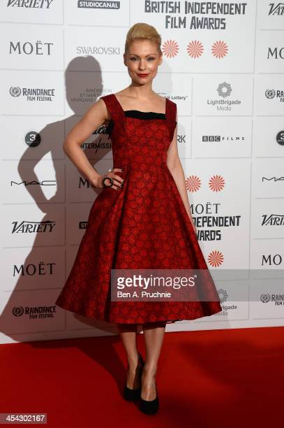 Actress MyAnna Buring arrives on the red carpet for the Moet British Independent Film Awards at Old Billingsgate Market on December 8 2013 in London...