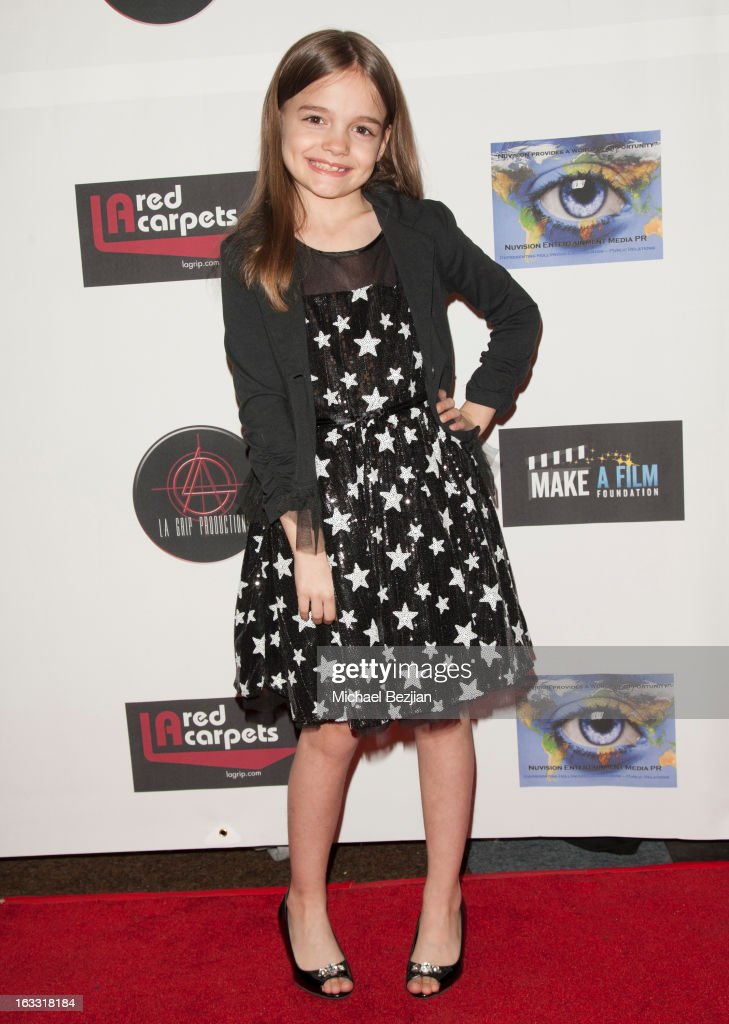 Actress Mykayla Sohn attends Make A Film Foundation's 'Kidz 4 Kidz' Comedy 4 A Cau$e Benefit Show at Writers Guild Theater on March 7, 2013 in Beverly Hills, California.