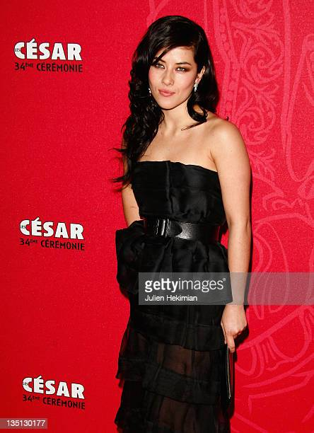 Actress Mylene Jampanoi arrives at the Cesar Film Awards 2009 at the Theatre du Chatelet on February 27 2009 in Paris France