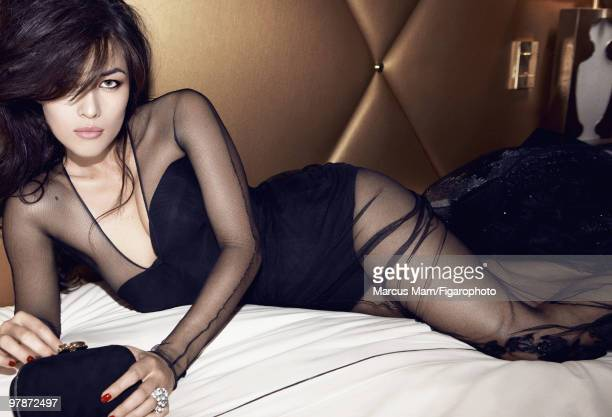 Actress Mylene Jampanoi poses at a James Bondinspired fashion session for Madame Figaro Magazine in 2008 PUBLISHED IMAGE CREDIT MUST READ Marcus...