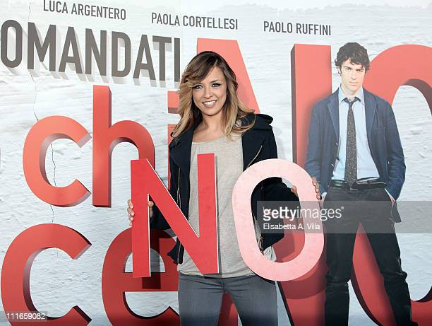 Actress Myriam Catania attends the 'C'E' Chi Dice No' photocall at The Space Moderno on April 5 2011 in Rome Italy