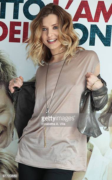Actress Myriam Catania attends 'Tutto L'Amore Del Mondo' photocall at Adriano Cinema on March 15 2010 in Rome Italy