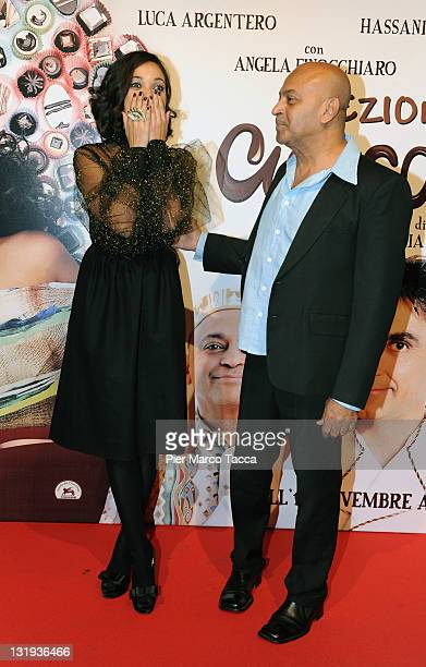Actress Nabiha Akkari and Actor Hassani Shapi attends 'Lezioni Di Cioccolato 2' Milan photocall held at Cinema Colosseo on November 8 2011 in Milan...
