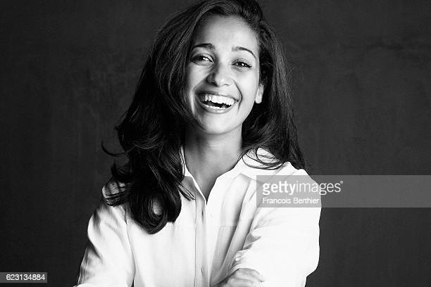 Actress Nabiha Akkari is photographed for Self Assignment on October 14 2016 in Paris France