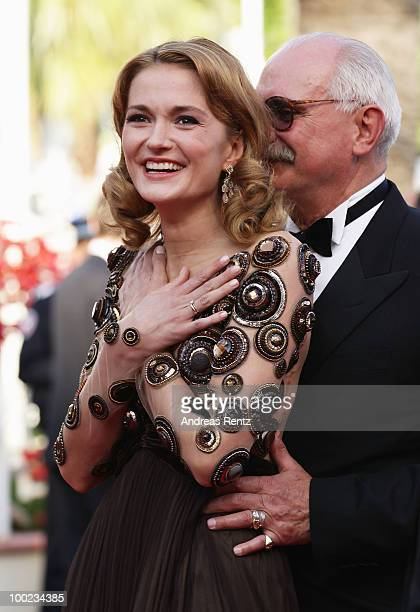 Actress Nadezhda Mihalkova attends the 'The Exodus Burnt By The Sun' Premiere at the Palais des Festivals during the 63rd Annual Cannes Film Festival...