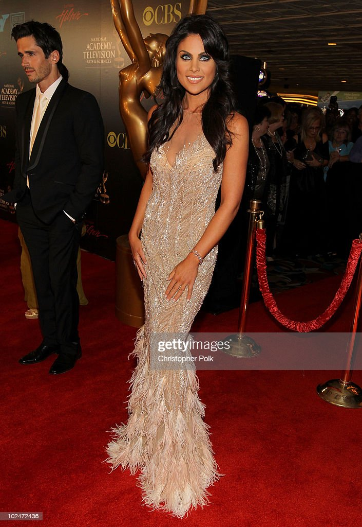 Actress <a gi-track='captionPersonalityLinkClicked' href=/galleries/search?phrase=Nadia+Bjorlin&family=editorial&specificpeople=2159820 ng-click='$event.stopPropagation()'>Nadia Bjorlin</a> arrives at the 37th Annual Daytime Entertainment Emmy Awards held at the Las Vegas Hilton on June 27, 2010 in Las Vegas, Nevada.