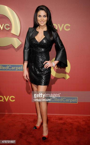 Actress Nadia Bjorlin arrives at the QVC 5th Annual Red Carpet Style event at The Four Seasons Hotel on February 28 2014 in Beverly Hills California