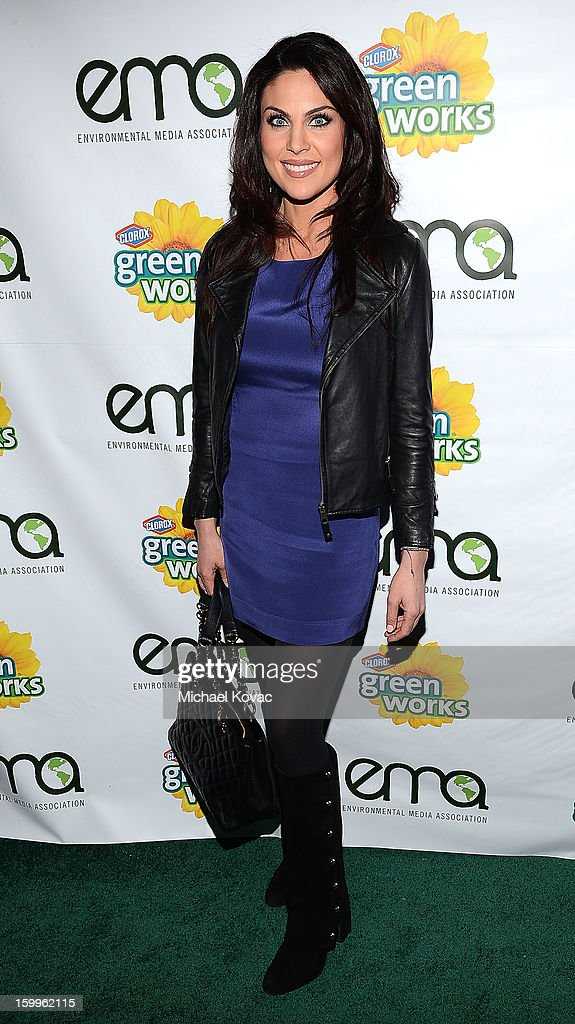 Actress Nadia Bjorlin attends Celebrities and the EMA Help Green Works Launch New Campaign at Sur Restaurant on January 23, 2013 in Los Angeles, California.
