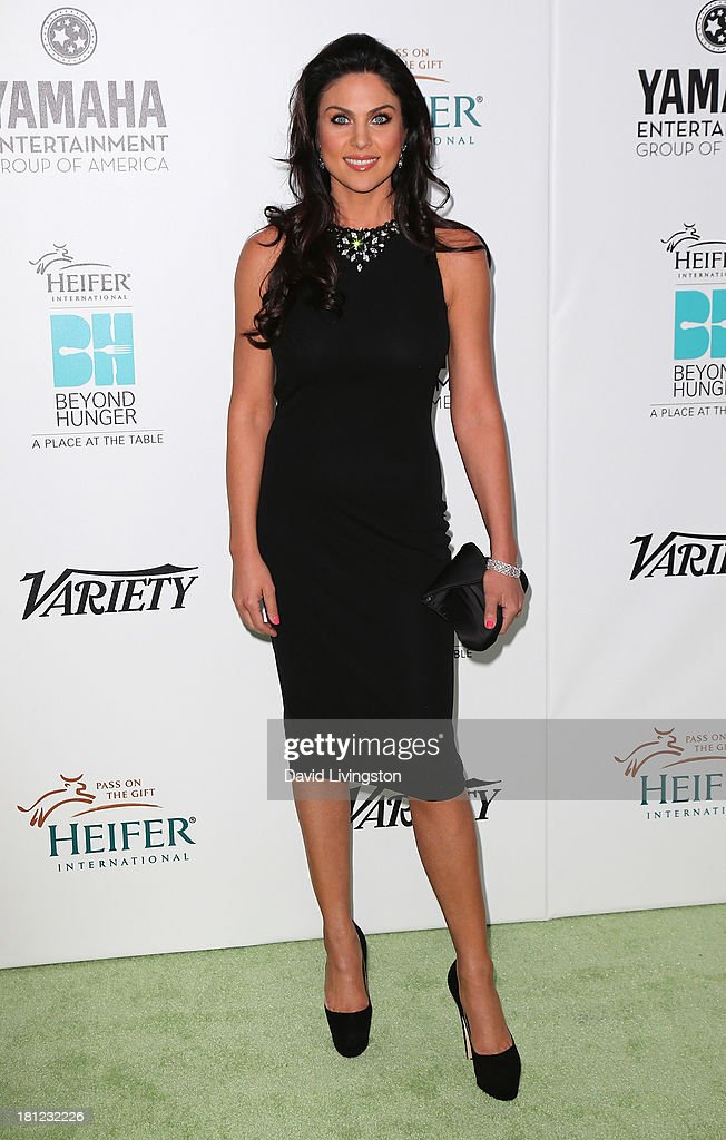Actress <a gi-track='captionPersonalityLinkClicked' href=/galleries/search?phrase=Nadia+Bjorlin&family=editorial&specificpeople=2159820 ng-click='$event.stopPropagation()'>Nadia Bjorlin</a> attends Heifer International's 'Beyond Hunger: A Place at the Table' gala at Montage Beverly Hills on September 19, 2013 in Beverly Hills, California.