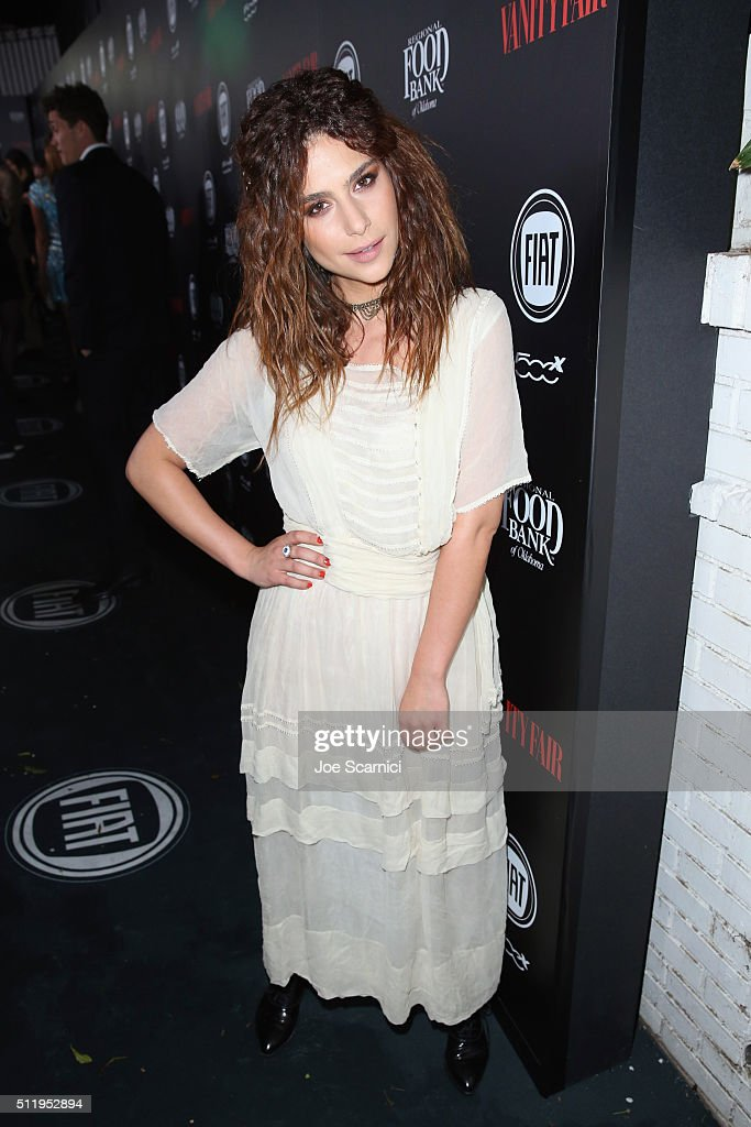 Actress Nadia Hilker attends Vanity Fair and FIAT Young Hollywood Celebration at Chateau Marmont on February 23, 2016 in Los Angeles, California.