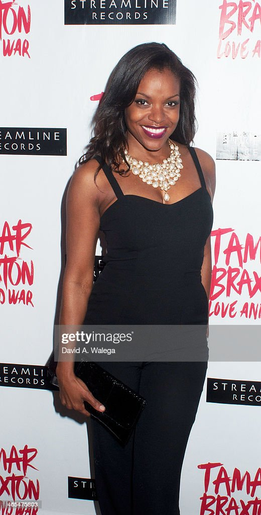 Actress Nadine Ellis arrives at Xen Lounge for a Night To Celebrate Tamar Braxton's GRAMMY Nominations on January 26, 2014 in Los Angeles, California.