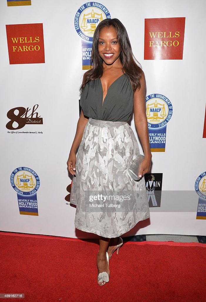 Actress Nadine Ellis attends the 24th Annual NAACP Theatre Awards at Saban Theatre on November 17 2014 in Beverly Hills California