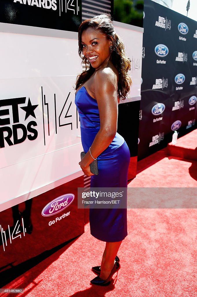 Actress Nadine Ellis attends the BET AWARDS '14 at Nokia Theatre LA LIVE on June 29 2014 in Los Angeles California
