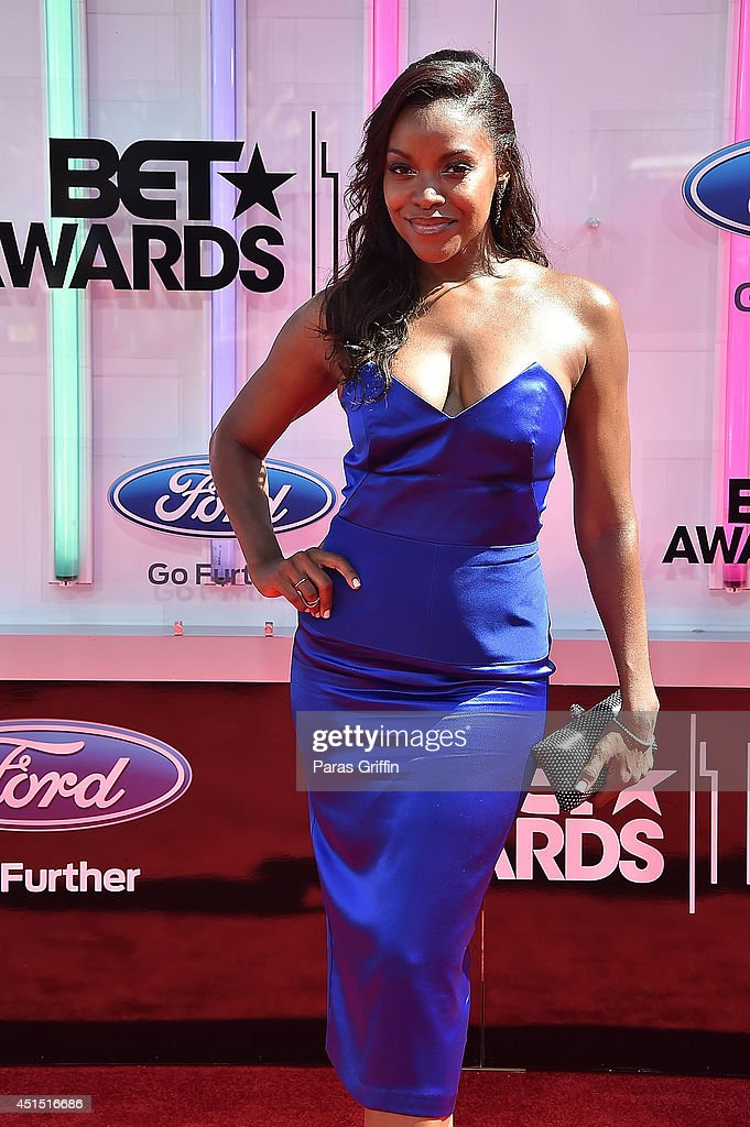 Actress Nadine Ellis attends the 'BET AWARDS' 14 held at Nokia Theatre LA Live on June 29 2014 in Los Angeles California