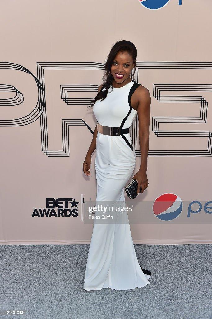 Actress Nadine Ellis attends the 'PRE' BET Awards Dinner at Milk Studios on June 28 2014 in Hollywood California