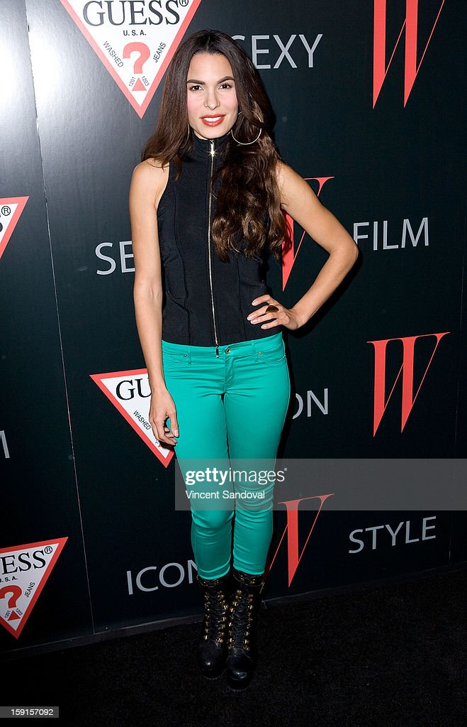 Actress Nadine Velazquez attends W Magazine and Guess celebrating 30 years of fashion and film and the next generation of style icons at Laurel Hardware on January 8, 2013 in West Hollywood, California.