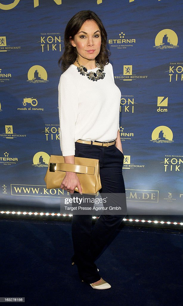 Actress Nadine Warmuth attends the 'Kon-Tiki' Premiere at Kino International on March 6, 2013 in Berlin, Germany.