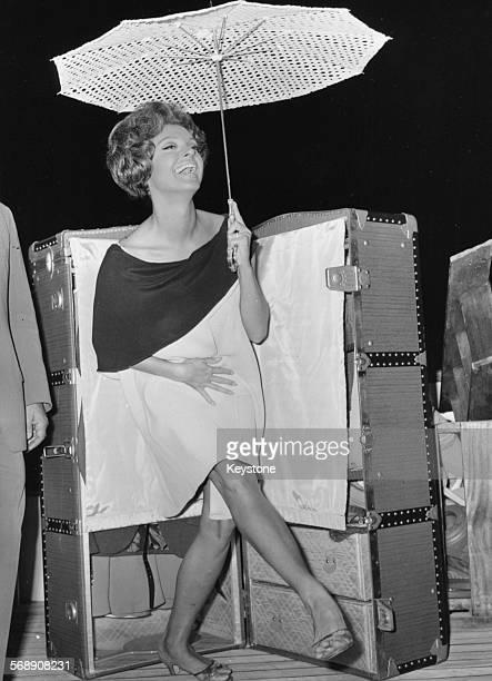 Actress Nadja Tiller filming scenes for 'The Summer' circa 1960
