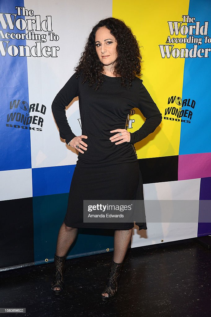 Actress Nadya Ginsburg arrives at the World Of Wonder book release party/birthday bash at The Globe Theatre at Universal Studios on December 13, 2012 in Universal City, California.
