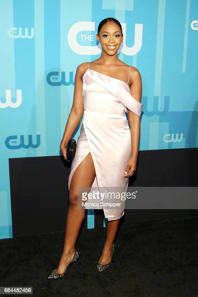 Actress Nafessa Williams attends the 2017 CW Upfront on May 18 2017 in New York City