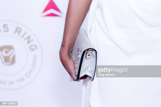 Actress Nafessa Williams fashion accessory detail attends the 14th Annual Brass Ring Awards Dinner at The Beverly Hilton Hotel on June 8 2017 in...