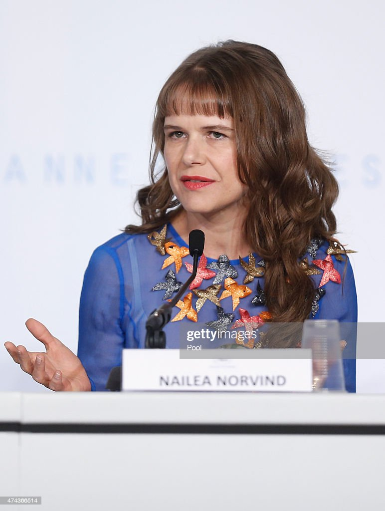 Actress Nailea Norvind attends the press conference for 'Chronic' during the 68th annual Cannes Film Festival on May 22, 2015 in Cannes, France.